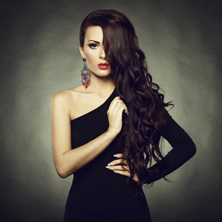 Фото красивые девушки с длинными черными волосами раз
